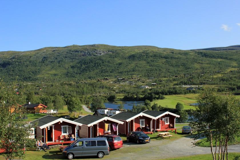Aangekomen bij onze 4de hut op een heel mooi plekje op de Hardangervidda